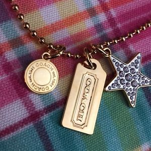 Coach Jewelry - Gold Coach Charm Necklace
